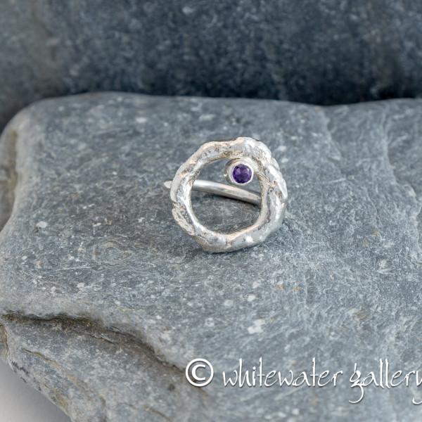 Marsha Drew, Rockpool Halo Ring with Amethyst