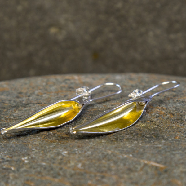 Marsha Drew, Pod Earrings with 24k Gold Keum-Boo