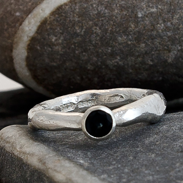 Marsha Drew, Rockpool Rustic Ring with Sapphire