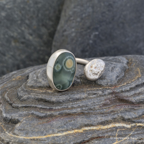 Marsha Drew, Pebble Ring with Ocean Jasper