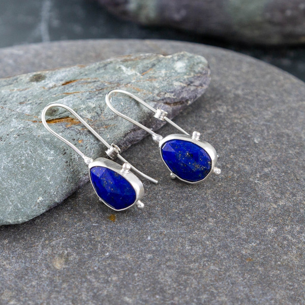 Marsha drew, Morwen Drop Earrings Lapis Lazuli