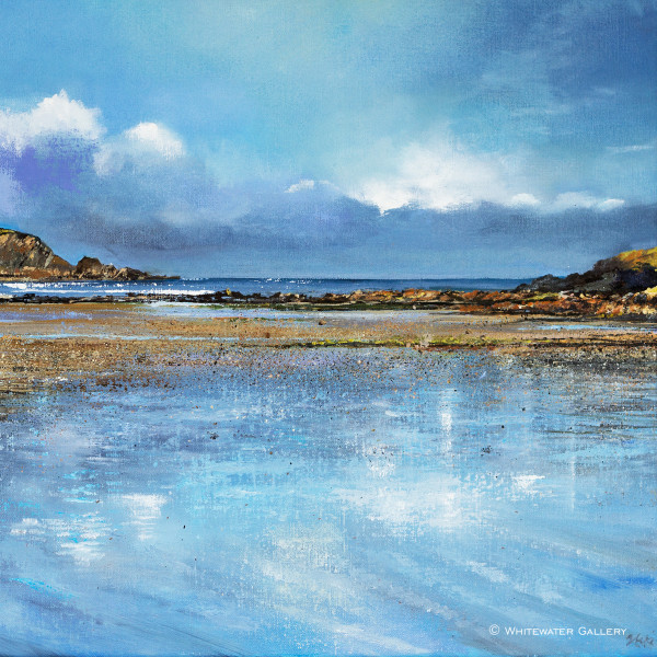 Suki Wapshott, Reflective Blue, Daymer Bay - Ltd Ed Prints available