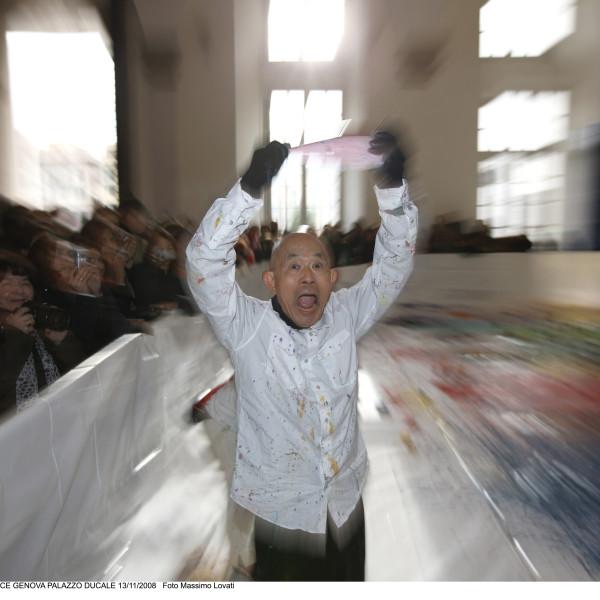 Shozo Shimamoto / PERFORMANCE PALAZZO DUCALE