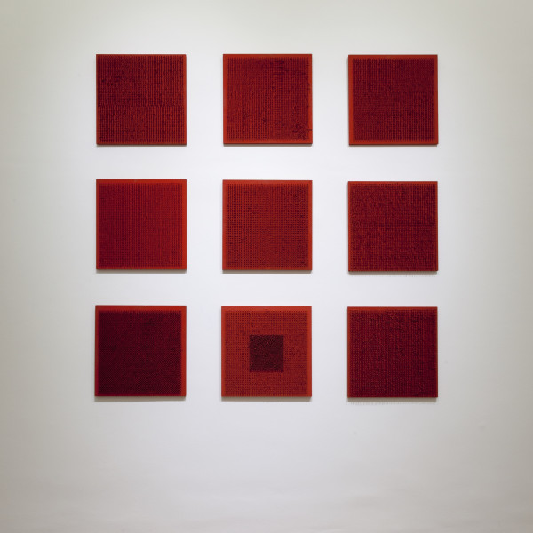 Bernard Aubertin pictorial situation of red