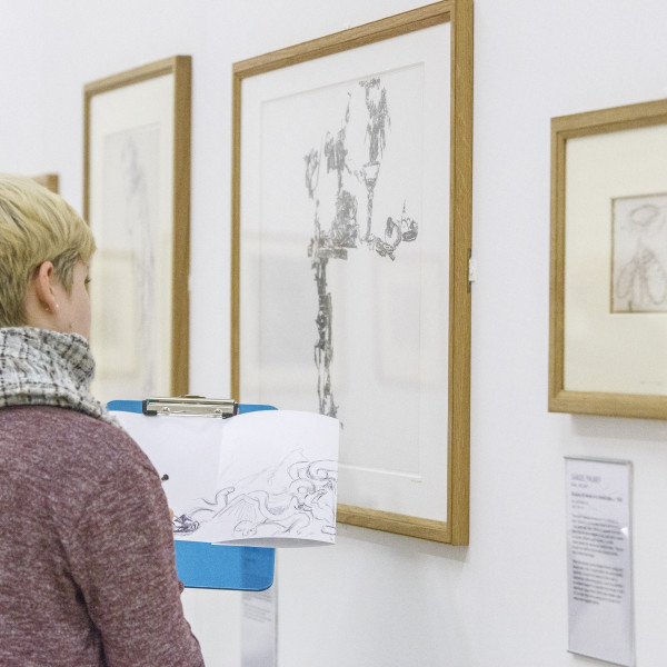 Student drawing in 'Lines of Thought' exhibition, Hull © Mark Kensett