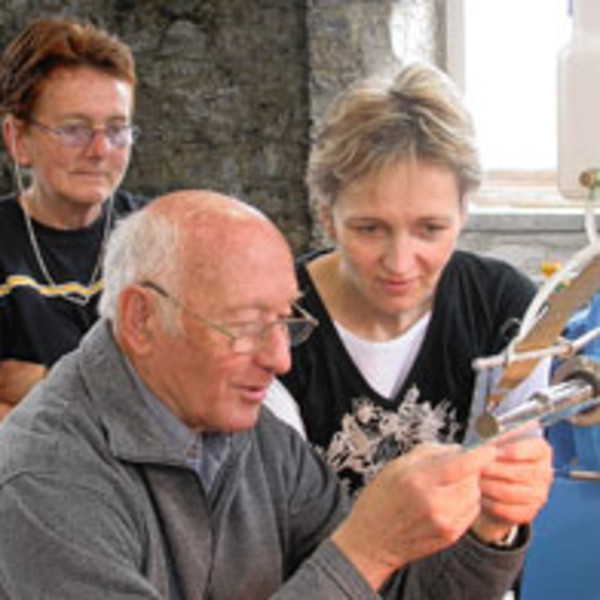 Bullseye artists at work at North Lands Creative Glass (Caithness Courier)