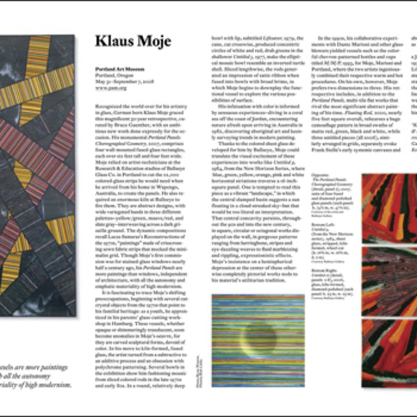 Sue Taylor reviews Klaus Moje at the Portland Art Museum (American Craft)