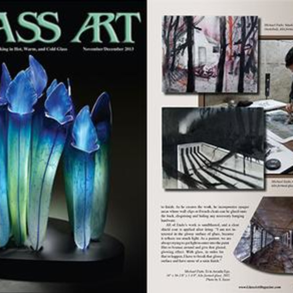 The Spaces In Between: Michael Endo's Kiln Formed Glass by Shawn Waggoner (Glass Art)
