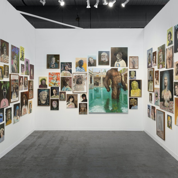 Aminah Brenda Lynn Robinson — at ACA (Booth 305, Pier 90) — uses her folksy collage-style aesthetic to detail a...