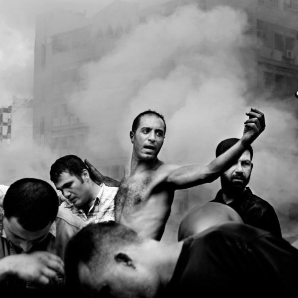 Paolo Pellegrin - Beirut: moments after an Israeli air strike destroyed several buildings in Dahia, August 2006