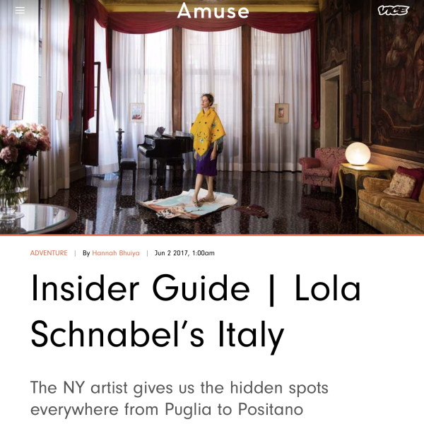 INSIDER GUIDE | LOLA SCHNABEL'S ITALY