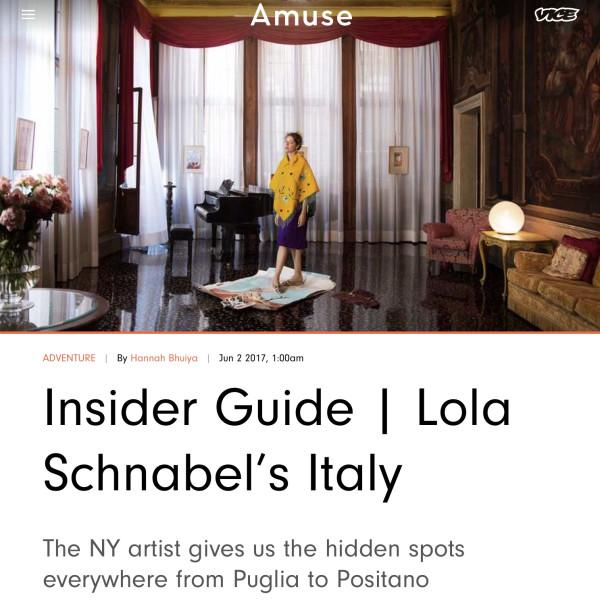 INSIDER GUIDE | LOLA SCHNABEL'S ITALY