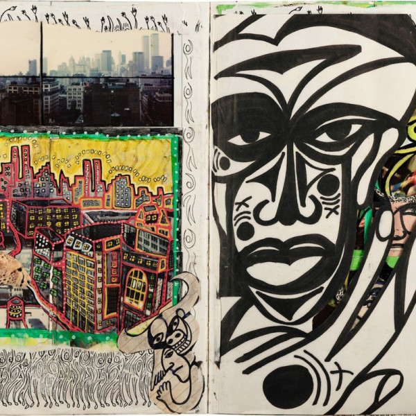 """Philippe H. Guggenheim presents activist Dan Eldon's Primitivist Photo-collage for a Cause with """"The Journey Is The Destination"""" at HG Contemporary in Chelsea (527 W 23rd Street)"""