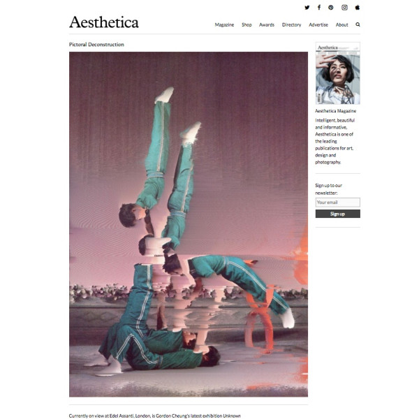 Gordon Cheung review in Aesthetica