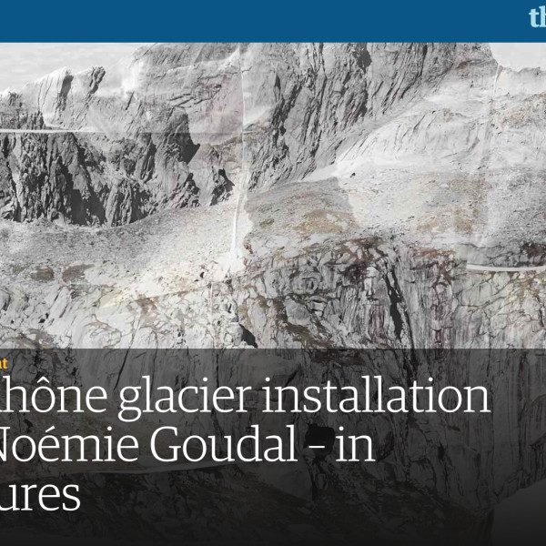 Noémie Goudal installation in the Guardian