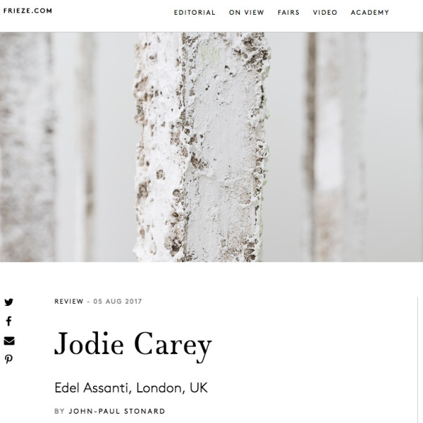 Jodie Carey review in Frieze