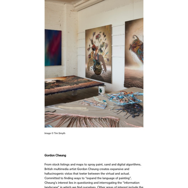 Gordon Cheung in Elephant Magazine