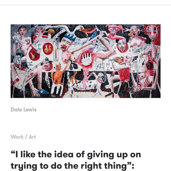 Dale Lewis interview interview in It's Nice That