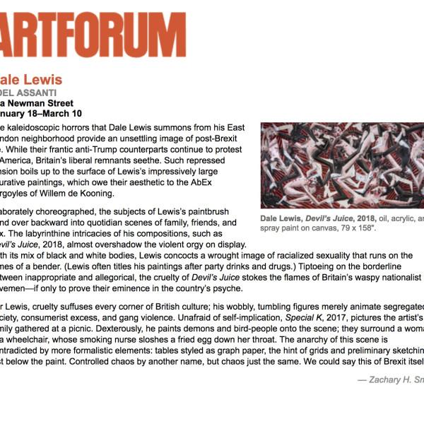 Dale Lewis in Artforum