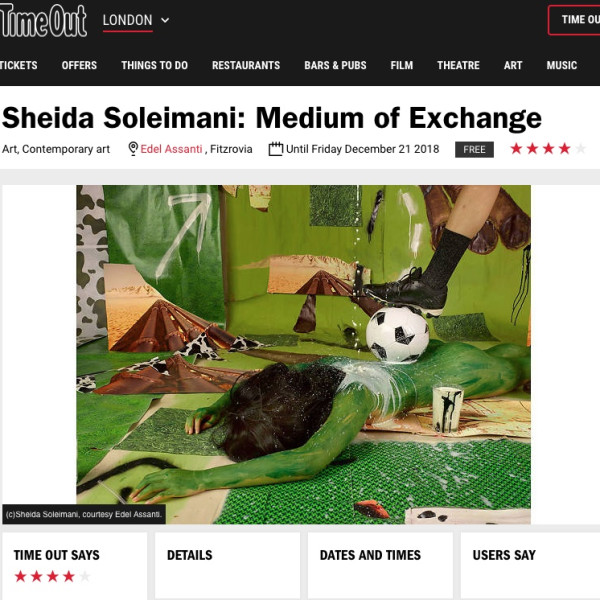Sheida Soleimani in Time Out