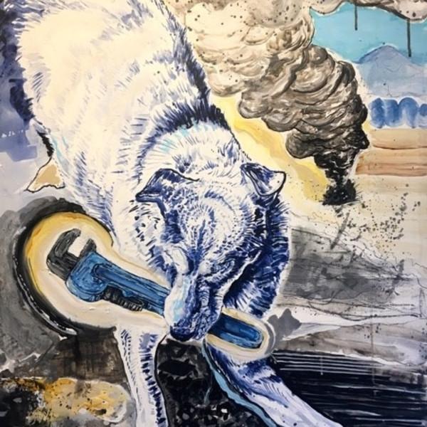 Chaz John - Rez Dog Fights Turkey Vulture to Protect Fry Bread, 2019