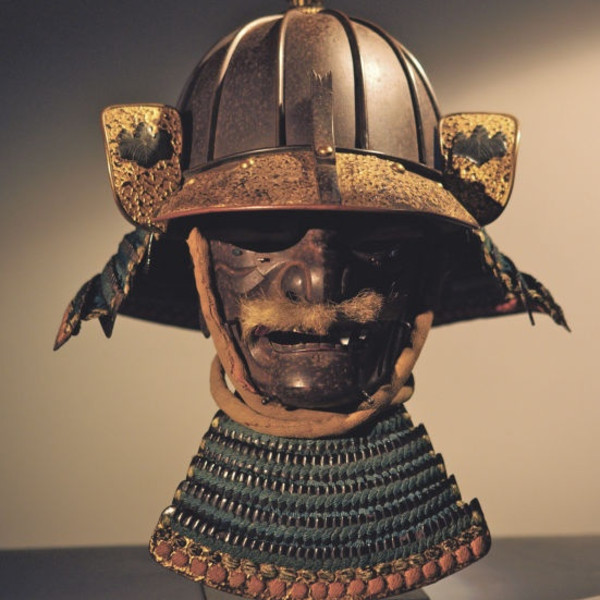 Samurai helmet and battle mask, circa 1650, Kaga Province, Japan