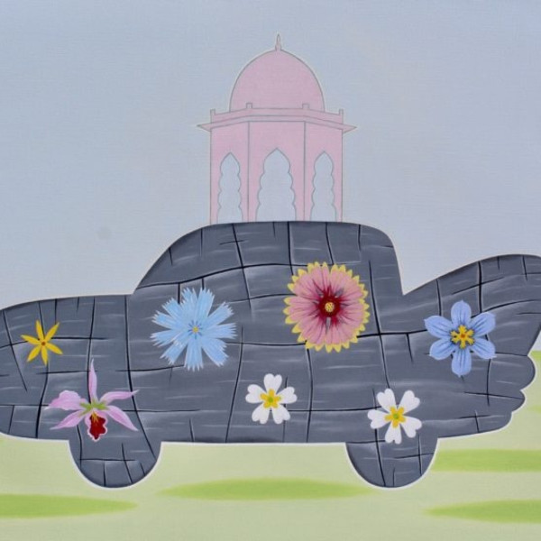 "Peter Harrington, ""Mughal Vehicle,"" 30"" x 40."""