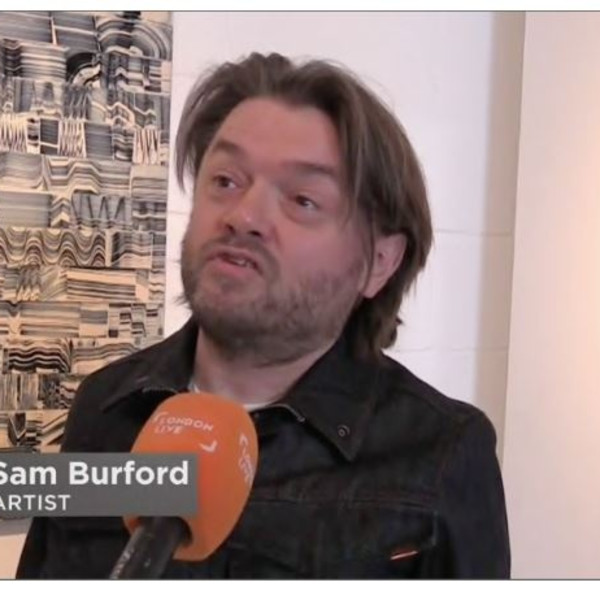 Sam Burford interviewed on London Live on occasion of the opening of his solo exhibition.