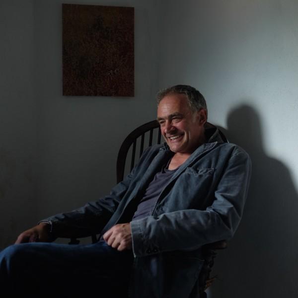 Roger Holtom in his studio