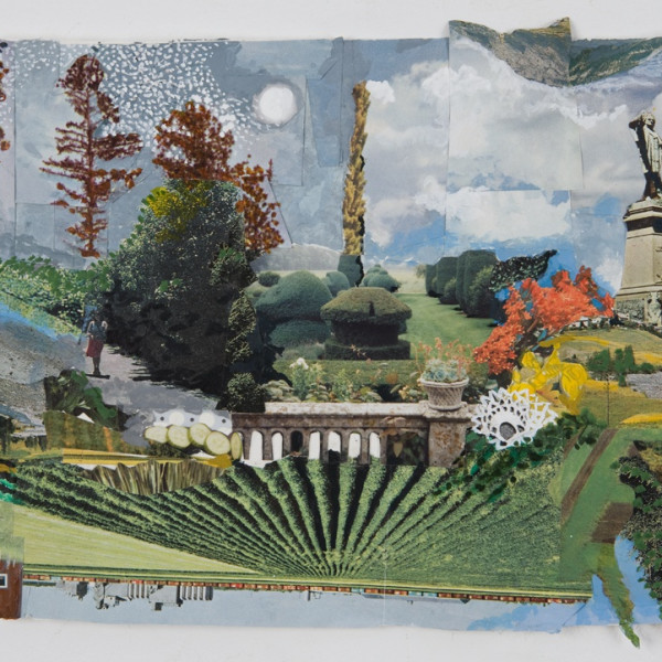 Sally Gil, 'Untitled with Seth Warner,' 2011, collage, acrylic, casein and house paint on paper, 7 x 9 in.