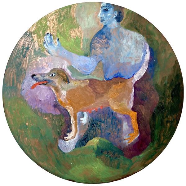 Emma Gerigscott with her dog, PI