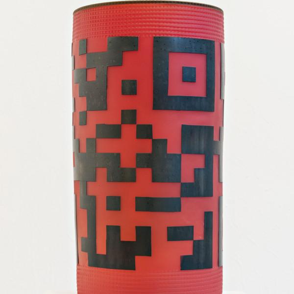 Joe Feddersen, QR Code (2012), blown glass, etched