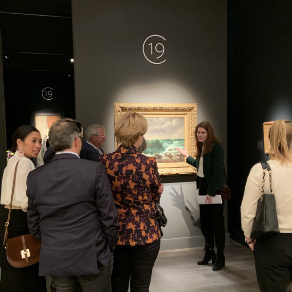 Van Gogh Museum brings their collectors group to our stand as part of their Maastricht highlights tour.