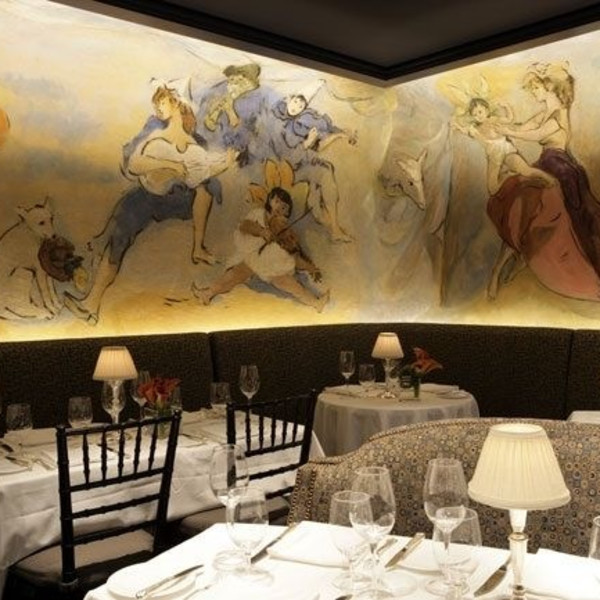 Cafe Carlyle, New York City with wall murals by Marcel Vertes