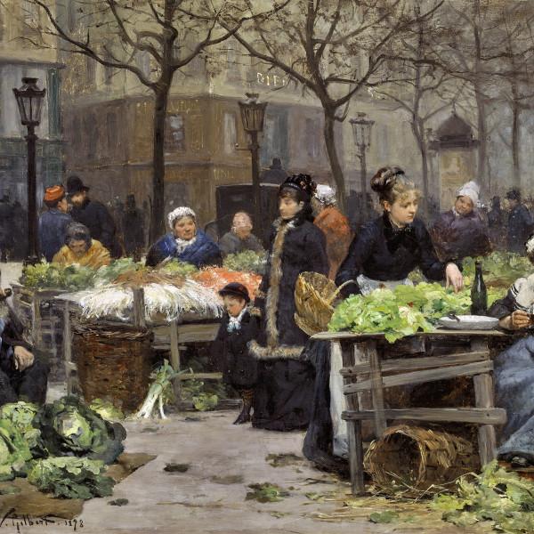 Victor-Gabriel Gilbert, Un marché parisien.
