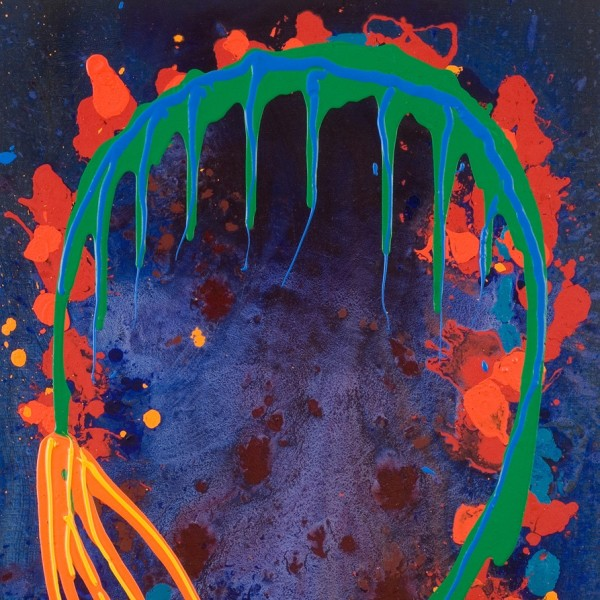 John Hoyland, Flames Like Rainbows 20.6.1998, 1998 (detail)