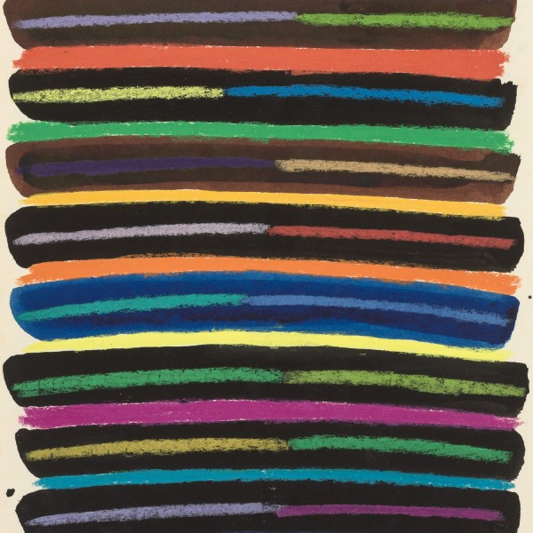 Daniel LaRue Johnson, Sunrise Series 6 (detail), 1979, Ink and pastel on paper, 30.5 x 22.9 cm