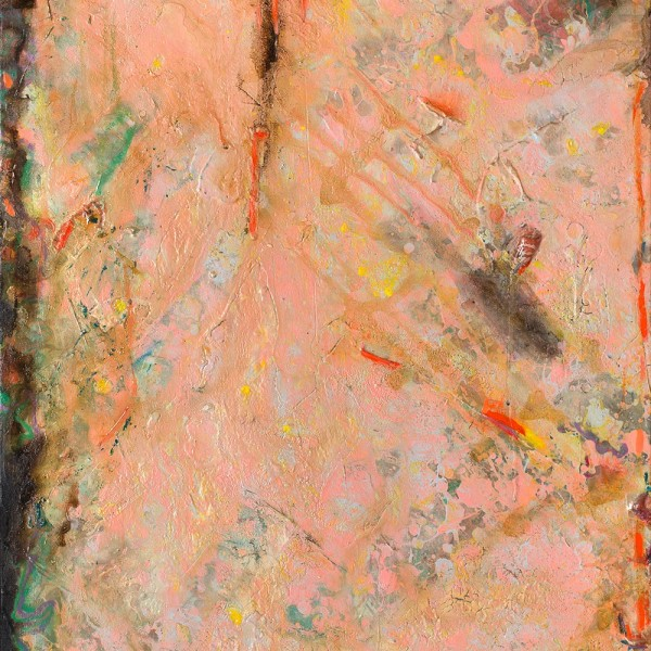 Detail of Frank Bowling, Metropolitanblooms, 1982, Acrylic on canvas, 89 x 67.5 cm, 35 1/8 x 26 5/8 in