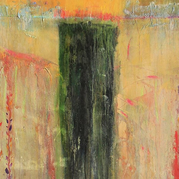 Detail of Frank Bowling, Midwinterstump, 2012, acrylic paint and acrylic gel on canvas, 203.2 x 160 cm, 80 x 63 in