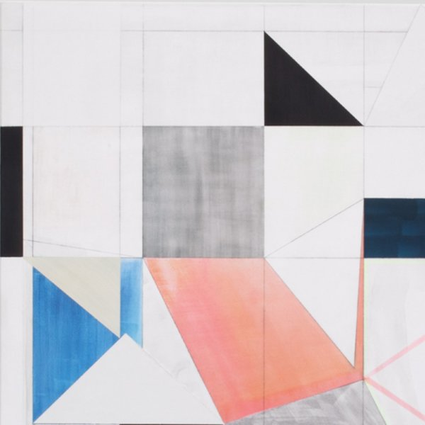 Detail of Andrew Bick, OGVDS [Detail] E, 2012, Marker pen, oil, pencil, and wax on wood, 76 x 64 cm, 29 7/8 x 25 1/4 in