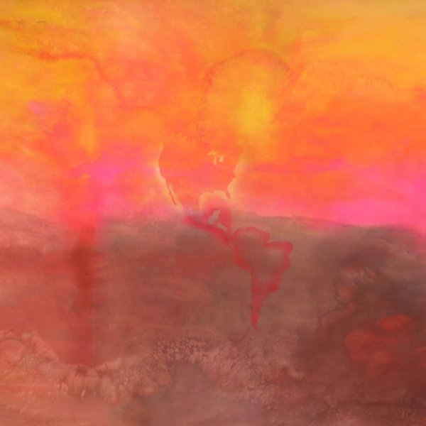 Detail of Frank Bowling, Texas Louise, 1971, Acrylic on canvas, 282 x 665 cm, 111 1/8 x 261 3/4 in