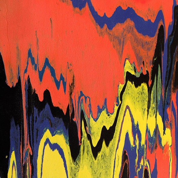 Detail of Frank Bowling, Tony's Anvil, 1975, Acrylic on canvas, 173 x 107 cm, 68 1/8 x 42 1/8 in, Framed: 179.6 x 113.9 cm, 70 3/4 x 44 7/8 in