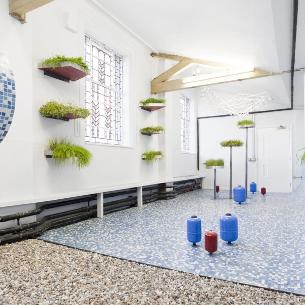 Installation view of Rachael Champion, Carrying Capacity at Zabludowicz Collection