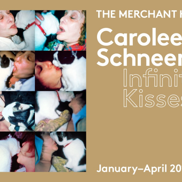 Poster for Carolee Schneemann Infinity Kisses, The Merchant House 2015