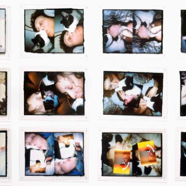 Detail of Carolee Schneemann, Infinity Kisses II (Vesper), 1990-1998, Laser prints; 24 self-shot laser prints, Each: 20 x 26 in, 50.8 x 66 cm