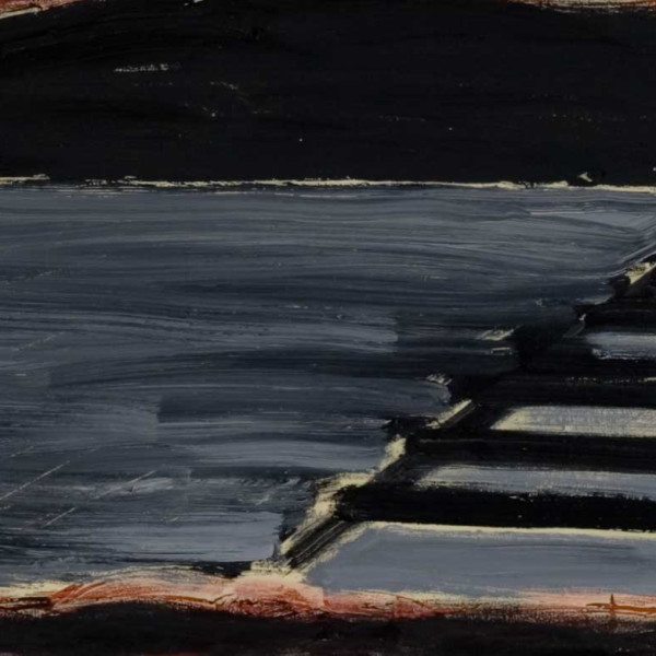 Detail of Basil Beattie, The Approaching Night, 2008, Oil and wax on canvas, 198 x 183 cm, 78 x 72 1/8 in