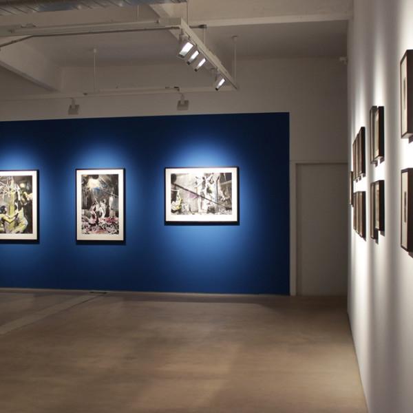Installation view of Carolee Schneemann, Water Light / Water Needle at Hales London