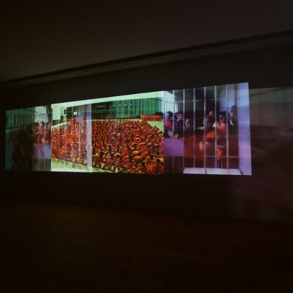 Installation view of Carolee Schneeman in 'Paint like I move' at Les Abattoirs, Toulouse