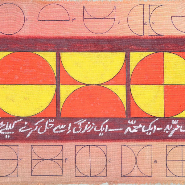 detail of Anwar Jalal Shemza, One to Nine and One to Seven, 1962