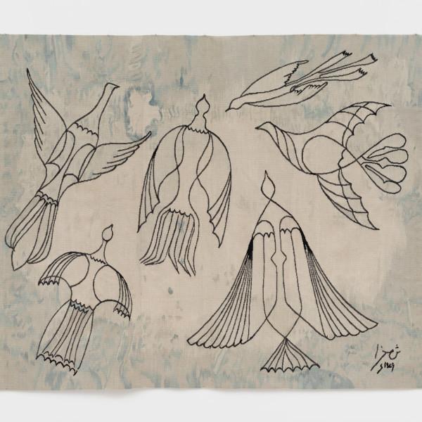 Anwar Jalal Shemza, Birds, 2021